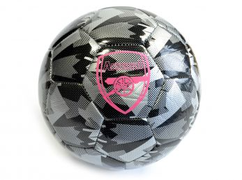 Arsenal Camo Ball Dark Shadow Puma Black Silver Bright Plasma Size 5 Ball
