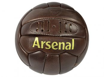 Arsenal Retro Heritage Leather Ball Size 5