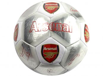 Arsenal Special Edition Signature Football Silver White