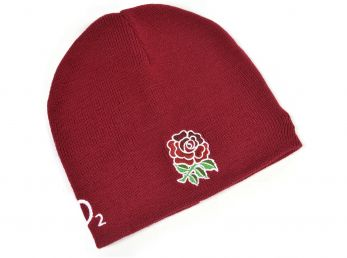 England Umbro Rugby Beanie Hat Claret