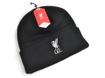 Liverpool Knitted Turn Up Hat Black